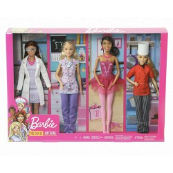 Barbie Pack de 4 Muñecas...